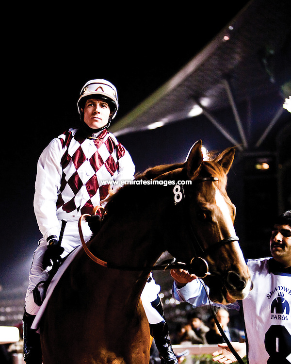 The Dubai World Cup at Meydan Racecourse in Dubai