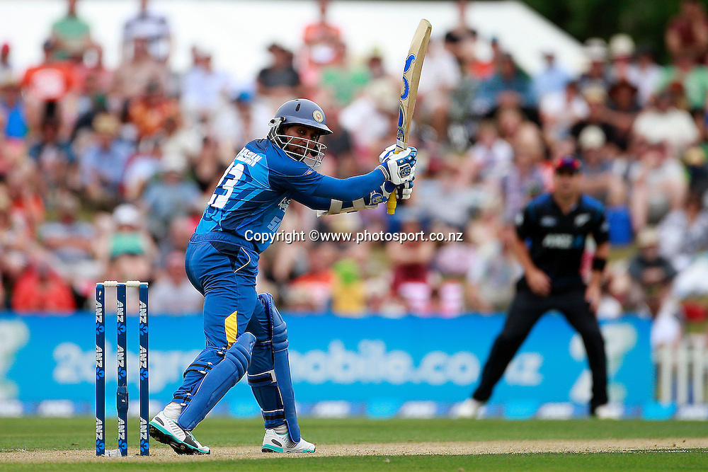 Tillakaratne Dilshan of Sri Lanka batting during the first ODI between the Black Caps v Sri Lanka at Hagley Oval, Christchurch. 11 January 2015 Photo: Joseph Johnson / www.photosport.co.nz