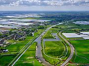 Nederland,Zuid-Holland, Berkel en Rodenrijs; 14–05-2020;  Groenblauwe Slinger, ecologische verbindingszone,  ter hoogte van buurtschap Noordeinde (tussen Bleiswijk en Pijnacker). Kassengebied tussen Bleiswijk en Berkel en Rodenrijs, Rotterdam aan de verre horizon.<br /> 'Green and blue garland', ecological connection zone, near the hamlet of Noordeinde (between Bleiswijk and Pijnacker). Left on the horizon Berkel and Rodenrijs, greenhouse area.<br /> <br /> luchtfoto (toeslag op standaard tarieven);<br /> aerial photo (additional fee required)<br /> copyright © 2020 foto/photo Siebe Swart