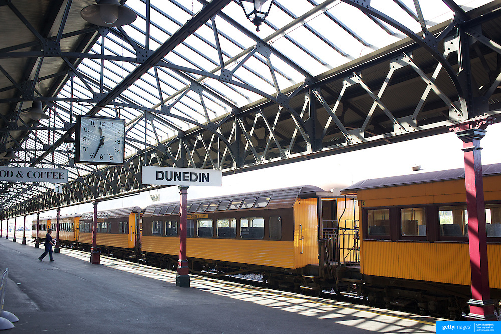 Dunedin Railway Station is a jewel in the country's architectural crown. Designed by George Troup, the station is the fourth building to have served as Dunedin's railway station. 25th March 2011, Photo Tim Clayton.