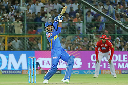 May 8, 2018 - Jaipur, Rajasthan, India - Rajasthan Royals batsman Krishnappa Gowtham plays a shot  during the IPL T20 match against Kings XI Punjab at Sawai Mansingh Stadium in Jaipur,Rajasthan,India on 8th May,2018.(Photo By Vishal Bhatnagar/NurPhoto) (Credit Image: © Vishal Bhatnagar/NurPhoto via ZUMA Press)