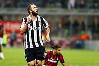 28.10.2017 - Milano - Serie A 2017/18 - 11a giornata  -  Milan-Juventus nella  foto: Gonzalo Higuain  esulta dopo il gol