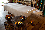 One of the massage tables at the spa at Song Saa private island.