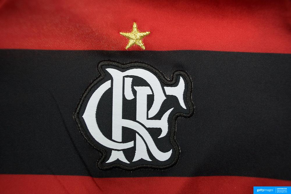 The shirt emblem of Flamengo football team in Rio de Janeiro,  Brazil. 6th September 2010. Photo Tim Clayton.