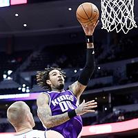 06 March 2017: Sacramento Kings center Willie Cauley-Stein (00) goes for the jump shot over Denver Nuggets center Mason Plumlee (24) during the Denver Nuggets 108-96 victory over the Sacramento Kings, at the Pepsi Center, Denver, Colorado, USA.