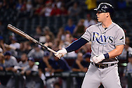 PHOENIX, AZ - JUNE 08:  Corey Dickerson #10 of the Tampa Bay Rays stands at bat against the Arizona Diamondbacks during the first inning at Chase Field on June 8, 2016 in Phoenix, Arizona. The Tampa Bay Rays won 8-6.  (Photo by Jennifer Stewart/Getty Images)