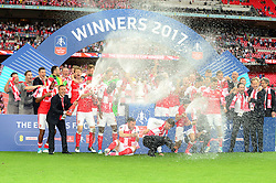 Arsenal celebrate beating Chelsea in the FA Cup final 2017 - Mandatory by-line: Dougie Allward/JMP - 27/05/2017 - FOOTBALL - Wembley Stadium - London, England - Arsenal v Chelsea - Emirates FA Cup Final