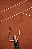 Paris, France - 2017 June 01: Agnieszka Radwanska from Poland serves during her women's single match second round during tennis Grand Slam tournament The French Open 2017 (also called Roland Garros) at Stade Roland Garros on June 01, 2017 in Paris, France.<br /> <br /> Mandatory credit:<br /> Photo by © Adam Nurkiewicz<br /> <br /> Adam Nurkiewicz declares that he has no rights to the image of people at the photographs of his authorship.<br /> <br /> Picture also available in RAW (NEF) or TIFF format on special request.<br /> <br /> Any editorial, commercial or promotional use requires written permission from the author of image.