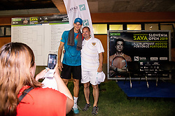 Blaz Rola of Slovenia with fans after winning in 2nd Round of ATP Challenger Zavarovalnica Sava Slovenia Open 2019, day 6, on August 14, 2019 in Sports centre, Portoroz/Portorose, Slovenia. Photo by Vid Ponikvar / Sportida