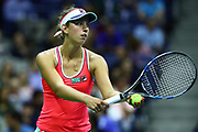 FLUSHING MEADOW, NY - AUGUST 29: ELISE MERTENS (BEL) during day two match of the 2017 US Open on August 29, 2017 at Billie Jean King National Tennis Center, Flushing Meadow, NY.(Photo by Chaz Niell/Icon Sportswire)