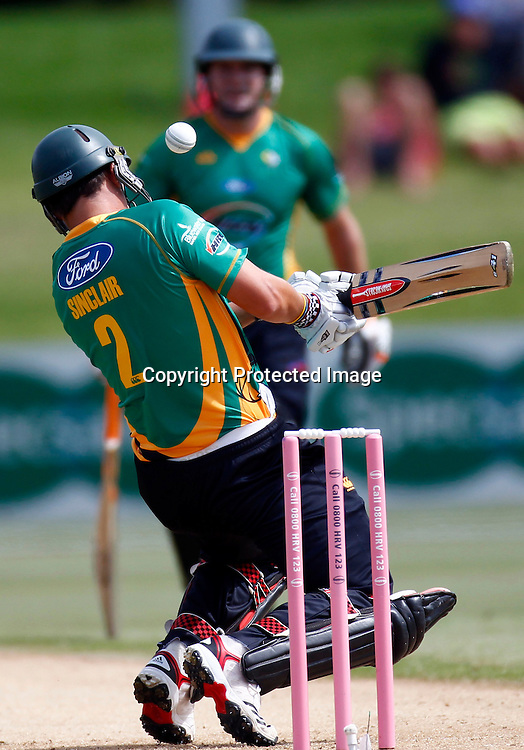 Mathew Sinclair in action during the HRV Cup match between the Northern Knight v Central Stags. Men's domestic Twenty20 cricket. Blake Park, Mt Maunganui, New Zealand. Thursday 5 January 2012. Ella Brockelsby / photosport.co.nz