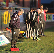 Dundee assistant manager Ray Farningham and the Livingston bench observe the minutes silence for former Dundee player Ian Redford - Dundee v Livingston,  SPFL Championship at Dens Park<br /> <br />  - &copy; David Young - www.davidyoungphoto.co.uk - email: davidyoungphoto@gmail.com