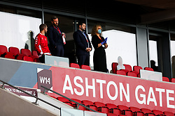 Bristol City Chairman Jon Lansdown and Bristol City CEO Mark Ashton after a 1-1- draw that all but ends Bristol City's hopes of a play off spot - Rogan/JMP - 15/07/2020 - Ashton Gate Stadium - Bristol, England - Bristol City v Stoke City - Sky Bet Championship.