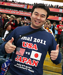 17.07.2011, Commerzbankarena, Frankfurt, GER, FIFA Women Worldcup 2011, Finale,  Japan (JPN) vs. USA (USA), im Bild:  .Daumen druecken fuer Japan.. // during the FIFA Women Worldcup 2011, final, Japan vs USA on 2011/07/11, FIFA Frauen-WM-Stadion Frankfurt, Frankfurt, Germany.   EXPA Pictures © 2011, PhotoCredit: EXPA/ nph/  Mueller       ****** out of GER / CRO  / BEL ******