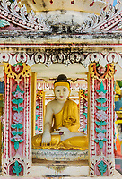 Buddha statue of the Thanboddhay Phaya near Monywa Myanmar (Burma)