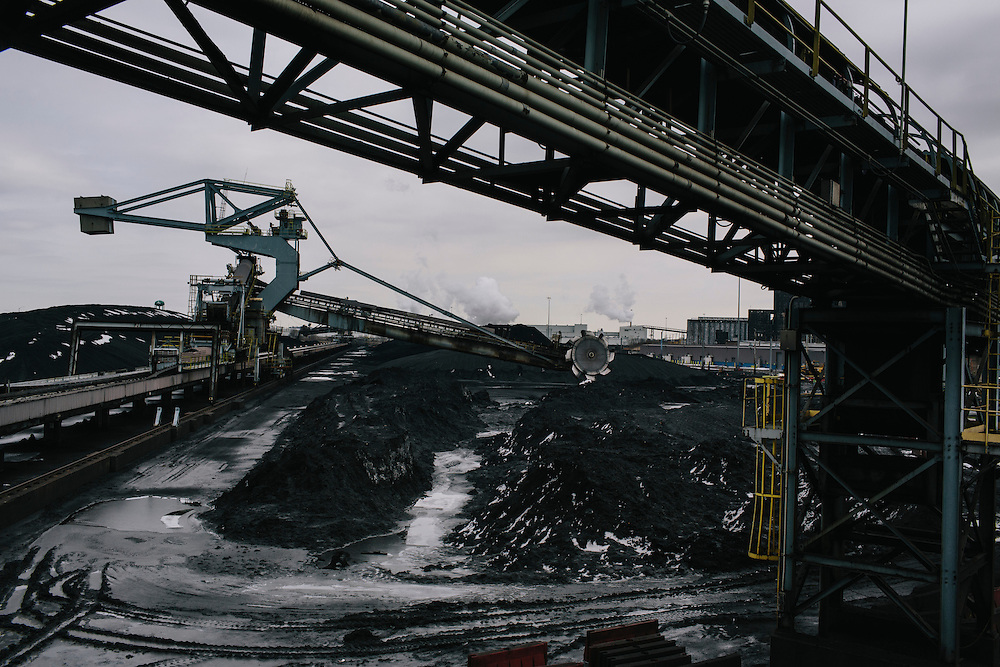 Consol Energy's Baltimore Terminal on March 6, 2014. The terminal covers 30 acres of storage for coal and employs 77 people.