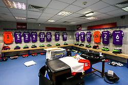 A view of the Bristol City changing room at Blackburn Rovers - Mandatory by-line: Robbie Stephenson/JMP - 09/02/2019 - FOOTBALL - Ewood Park - Blackburn, England - Blackburn Rovers v Bristol City - Sky Bet Championship