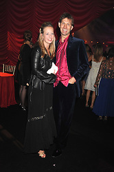 England international footballer TONY ADAMS and his wife POPPY at the End of Summer Ball in support of The Prince's Trust in Berkeley Square, London on 25th September 2008.