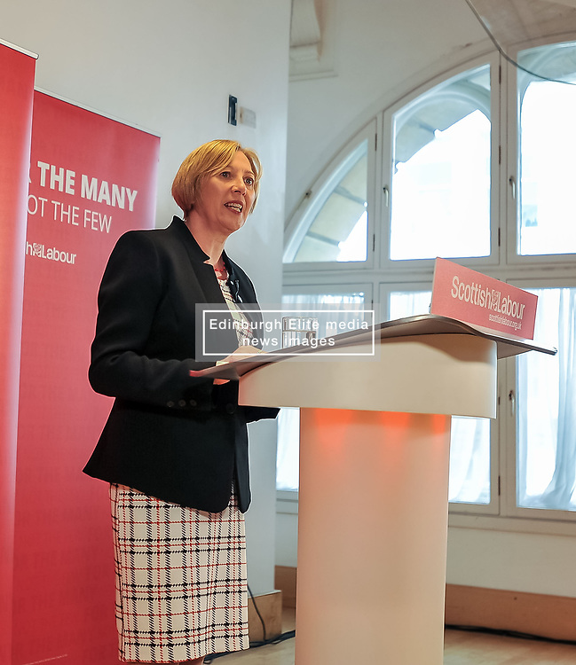 Pictured: New Scottish Labour Deputy Leader Lesley Laird speaks after her appointment.<br /> <br /> Scottish Labour leader Richard Leonard announced his new deputy leader, Fife MP Lesley Laird, at a speech in Glasgow.<br /> <br /> © Dave Johnston/ EEm