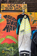 Local surf shop in Sayulita, Mexico