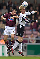 Photo: Daniel Hambury.<br />Northampton Town v Swansea City. Coca Cola League 1. 28/10/2006.<br />Northampton's Scott McGleish and Swansea's Alan Tate battle.