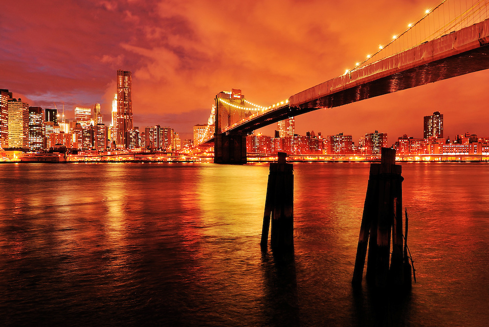 Brooklyn Bridge,Brooklyn, Manhattan,New York, USA