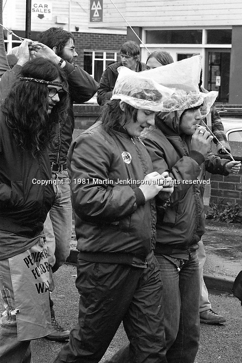People's  March for Jobs, Yorkshire and Liverpool to London. Letchworth to Luton 25/05/1981