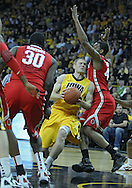 January 07, 2011: Iowa Hawkeyes guard Matt Gatens (5) drives around Ohio State Buckeyes guard William Buford (44) during the the NCAA basketball game between the Ohio State Buckeyes and the Iowa Hawkeyes at Carver-Hawkeye Arena in Iowa City, Iowa on Saturday, January 7, 2012.