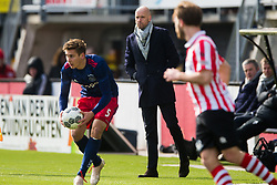 Max Wober of Ajax, coach Erik ten Hag of Ajax during the Dutch Eredivisie match between Sparta Rotterdam and Ajax Amsterdam at the Sparta stadium Het Kasteel on March 18, 2018 in Rotterdam, The Netherlands