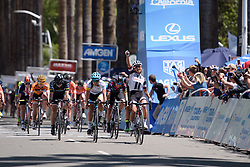 Coryn Rivera wins sprint at Amgen Breakaway from Heart Disease Women's Race empowered with SRAM (Tour of California) - Stage 3. A 118km road race from Elk Grove to Sacramento, USA on 13th May 2017.