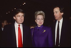November 12, 2016 - New York, New York, U.S. - DONALD TRUMP over the years..Donald Trump, sister Maryanne Trump Barry, brother Robert Trump..Photos by  ,   Photos Inc 2016 (Credit Image: © Sonia Moskowitz/ZUMA Wire)