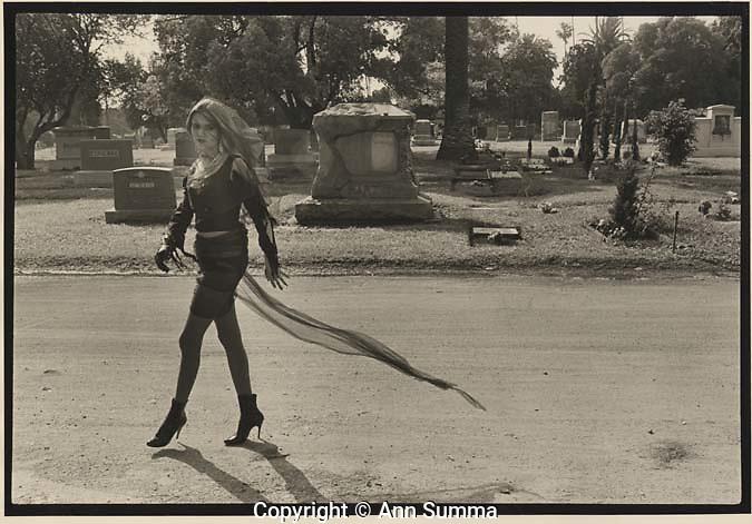 Hollywood, Callifornia: Dinah Cancer, 45 Grave, at the Hollywood Cemetary (Photo: Ann Summa).