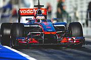 February 21, 2012: Formula One Testing, Circuit de Catalunya, Barcelona, Spain. Jenson Button, McLaren-Mercedes MP4-27