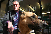 21/03/07 SW. Vic Sinclair and his guide dog of six years - Zoe, go for a walk in Lambton Quay during lunch break..Photo: Crispin Anderlini
