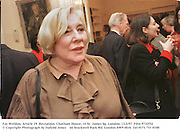 Fay Weldon, Article 19  Reception. Chatham House, 10 St. James Sq. London. 13/2/97. Film 9732f32<br />© Copyright Photograph by Dafydd Jones<br />66 Stockwell Park Rd. London SW9 0DA<br />Tel 0171 733 0108