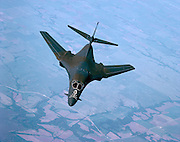 Top view of B-1B Bomber, air-to-air