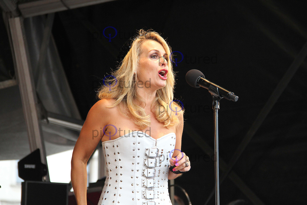 The Original Bucks Fizz; Jay Aston Pride London Trafalgar Square, Westminster, London, UK, 02 July 2011:  Contact: Rich@Piqtured.com +44(0)7941 079620 (Picture by Richard Goldschmidt)