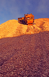Wood Chip Pile, Paper Mill