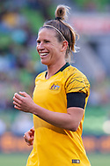 MELBOURNE, VIC - MARCH 06: Elise Kellond-Knight (8) of Australia looks on during The Cup of Nations womens soccer match between Australia and Argentina on March 06, 2019 at AAMI Park, VIC. (Photo by Speed Media/Icon Sportswire)