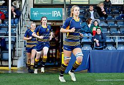 Cara Brincat of Worcester Valkyries prior to kick-off- Mandatory by-line: Nizaam Jones/JMP - 01/12/2018 - RUGBY - Sixways Stadium - Worcester, England - Worcester Valkyries v Saracen Women- Tyrrells Premier 15s