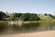 Elbeufer, Elbschloesser, Dresden, Sachsen, Deutschland. .Dresden, Germany, river Elbe, Elbe Castles