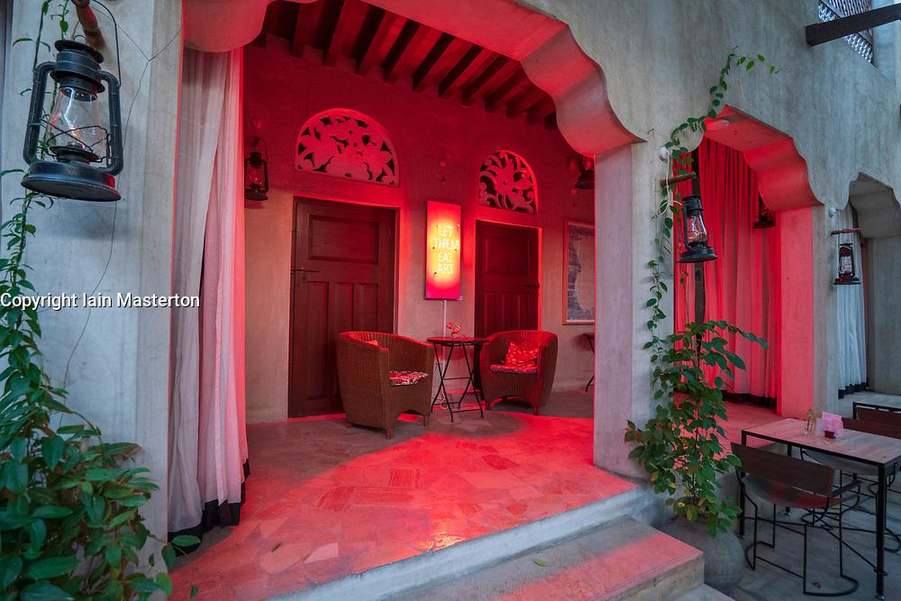 XVA hotel and art gallery in original historic Al Fahidi district , al Bastakiya , in Dubai, United Arab Emirates