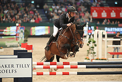 Kauert, Christof (GER), Orplid<br /> Leipzig - Partner Pferd 2016<br /> Wernesgrüner Zeitspringen<br /> © www.sportfotos-lafrentz.de / Stefan Lafrentz