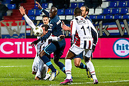 Onderwerp/Subject: Willem II - Feyenoord - Eredivisie<br /> Reklame:  <br /> Club/Team/Country: <br /> Seizoen/Season: 2012/2013<br /> FOTO/PHOTO: Bruno MARTINS ( Bruno Martins INDI ) (C) of Feyenoord in duel with Aurelien JOACHIM (L) of Willem II and Virgil MISIDJAN (R) of Willem II. (Photo by PICS UNITED)<br /> <br /> Trefwoorden/Keywords: <br /> #04 $94 &plusmn;1354627667242<br /> Photo- &amp; Copyrights &copy; PICS UNITED <br /> P.O. Box 7164 - 5605 BE  EINDHOVEN (THE NETHERLANDS) <br /> Phone +31 (0)40 296 28 00 <br /> Fax +31 (0) 40 248 47 43 <br /> http://www.pics-united.com <br /> e-mail : sales@pics-united.com (If you would like to raise any issues regarding any aspects of products / service of PICS UNITED) or <br /> e-mail : sales@pics-united.com   <br /> <br /> ATTENTIE: <br /> Publicatie ook bij aanbieding door derden is slechts toegestaan na verkregen toestemming van Pics United. <br /> VOLLEDIGE NAAMSVERMELDING IS VERPLICHT! (&copy; PICS UNITED/Naam Fotograaf, zie veld 4 van de bestandsinfo 'credits') <br /> ATTENTION:  <br /> &copy; Pics United. Reproduction/publication of this photo by any parties is only permitted after authorisation is sought and obtained from  PICS UNITED- THE NETHERLANDS