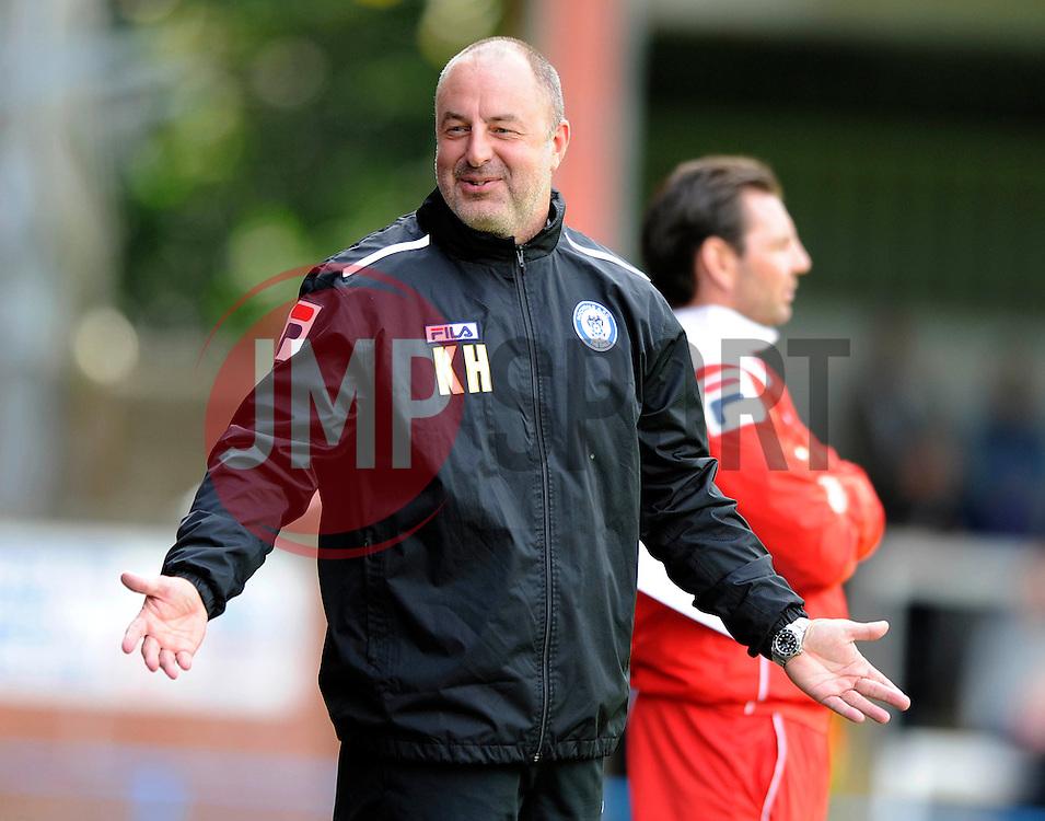 Rochdale Manager, Keith Hill - Photo mandatory by-line: Dougie Allward/JMP - Mobile: 07966 386802 23/08/2014 - SPORT - FOOTBALL - Manchester - Spotland Stadium - Rochdale AFC v Bristol City - Sky Bet League One