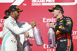 November 3, 2019, Austin, United States of America: Motorsports: FIA Formula One World Championship 2019, Grand Prix of United States, ..#44 Lewis Hamilton (GBR, Mercedes AMG Petronas Motorsport), #33 Max Verstappen (NLD, Aston Martin Red Bull Racing) (Credit Image: © Hoch Zwei via ZUMA Wire)