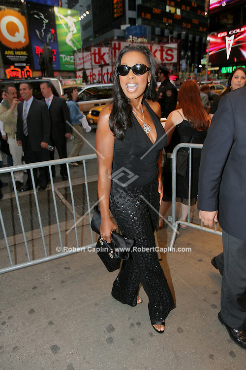 """Star Jones attends the opening of the Broadway play """"Lestat"""" at the Palace Theatre in Manhattan, Tuesday, April 25, 2006."""