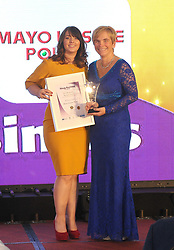 Mayo Leisure Point winner of Best Hospitality  Award at the Mayo Business Awards held in the Broadhaven Hotel Belmullet.<br />Pic Conor McKeown