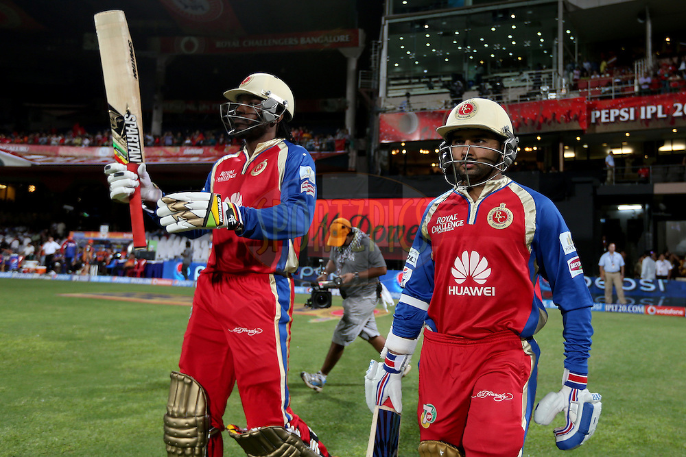 during match 24 of the Pepsi Indian Premier League Season 2014 between the Royal Challengers Bangalore and the Sunrisers Hyderabad held at the M. Chinnaswamy Stadium, Bangalore, India on the 4th May 2014. Photo by Jacques Rossouw / IPL / SPORTZPICS<br /> <br /> <br /> <br /> Image use subject to terms and conditions which can be found here:  http://sportzpics.photoshelter.com/gallery/Pepsi-IPL-Image-terms-and-conditions/G00004VW1IVJ.gB0/C0000TScjhBM6ikg