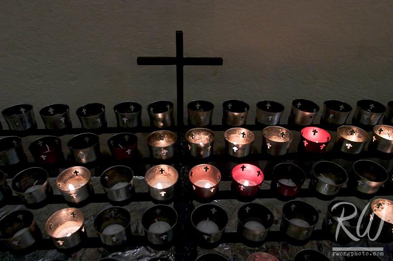 Prayer Candles in Saint Francis de Assisi Cathedral, Santa Fe, New Mexico